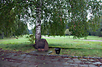 symbolischer Grabstein für die Kinder von Lidice