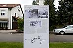 Weg des Erinnerns vom Bahnhof Dachau zum Eingang der KZ-Gedenkstätte