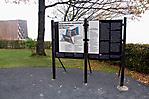 Infotafel am Rand des Friedhofs