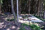 Bauliche Überreste im Wald