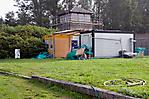 Renovierungsarbeiten an einem ehem. Wachturm