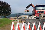 Bauarbeiten im Bereich des Denkmalparks (Sept. 2009)