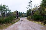 Reste des Zugangs zum Bereich des Steinbruchs