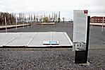 Abgedeckte Freilegungen des ehem. Bunkers (April 2010)