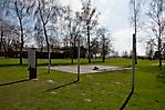Gedenkplatte am Standort des Krematoriums