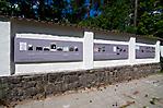 Ausstellung an der Gartenmauer der Jugendbegegnungsstätte