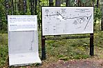 Infotafel zur ehem. Hinrichtungsstätte und Geländeüberblick
